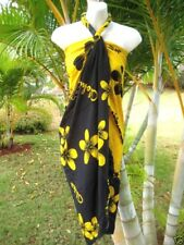 Hawaii Sarong Pareo Tropical Cruise Beach Pool Sexy Bikini Cover-Up Wrap Dress