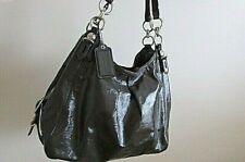 COACH Madison Mia Maggie Gray Patent Leather Shoulder HANDBAG 15734