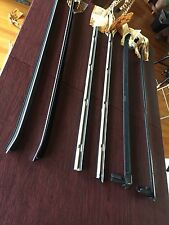 87-93 Ford Mustang Convertible NOS Weather Strip Belt Moulding Chrome Trim-6 Pcs
