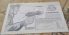 Vintage Copy Of Buck Rogers Rocket Rangers Ad With Sonic Ray  B/W  USED