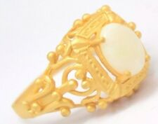Anello Opale Taglia 54 Argento Sterling Argento 925 Placcato Oro