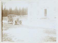 France, Voiture d'époque DONNET SIX  Vintage silver print. Vintage car.