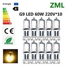 5Pcs G9 Halogenlampe 20//40 //60W 220V Warmweiß für Wandleuchte Klarglas jede ee