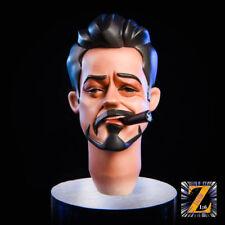 1/6 Iron Man Tony Cartoon Ver. Head Sculpt With MK47 Glassess Fit 12'' Body