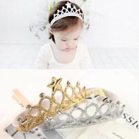 Princess Girls Rhinestone Crystal Wedding Crown Headband Tiara Hair Band S