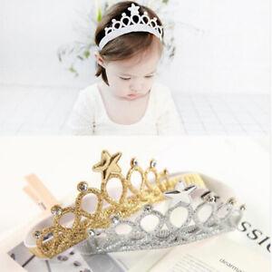 Princess Girls Rhinestone Crystal Wedding Crown Headband Tiara Hair Band Q