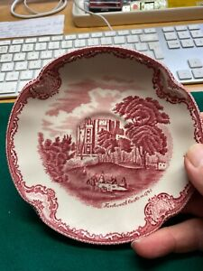 Johnson Bros Old Britain Castles Plate - Kenilworth Castle Saucer 5.5 in / 14 cm