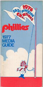 1977 Philadelphia Phillies Baseball Media Guide Mike Schmidt Tug McGraw Jim Kaat