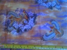 Vintage David Fabric Red Tailed Hawk Southwestern Quilt Mountains Western FQ