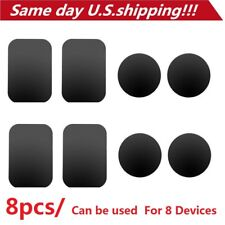 8pcs Metal Plates Sticker Replace For Magnetic Car Mount Magnet Phone Holder GPS