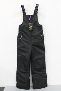 Champion NWT C9 Unisex Children Black Snow Bib Overalls Size S