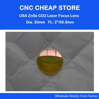 "HQ ZnSe Focus Lens Mirror Diam Φ20mm CO2 Laser Engraver Cutter Focal 50.8mm 2"""