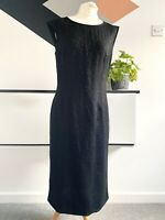 JAEGER  Dress Size 12 BLACK LACE | SMART Occasion WEDDING Cruise RACES
