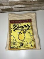 The Spirit of St. Lucia Bounty Rum T-Shirt, Cream Color,Large, NWT, 100% Cotton