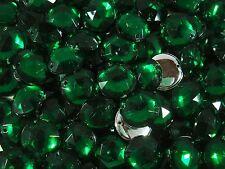 Acrylic Sew-on Gems 30pcs Round 18mm Green Jewel Rhinestone  FREE POSTAGE