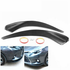 ABS Car Front Bumper Deflector Spoiler Splitter Diffuser Canard Lip Tuning Body