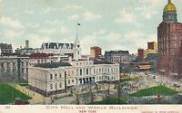 NEW YORK CITY – City Hall and World Buildings – udb (pre 1908)