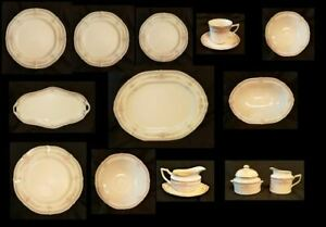 Noritake Rothschild Platinum Trim - Select the Pieces - Multiple Available- Mint