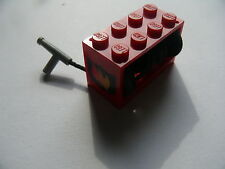 Lego 1 treuil rouge equipe set 6554 6407 / 1 red string reel complete