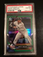 2018 Bowman Chrome Miguel Andujar NY Yankees Rookie Green Ref PSA 10 💎 POP 1