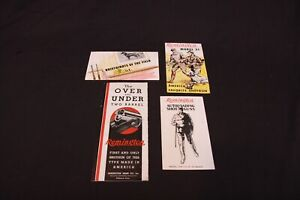 Lot of Vintage Remington Ammo Shotgun Model 31 32 11A Advertising Brochure Ad