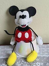 "New listing Gund Mickey Mouse Disney String Bean Plush 8"" Pre-owned Euc"