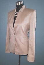Ann Taylor Sz 2 Jacket Beige Silk Wool Dress Casual Cotton Suit Blazer  S NEW