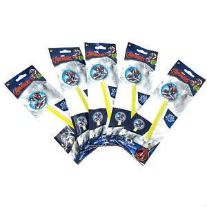 Marvel Avengers Glow Wand Iron Man Captain America 4th Of July Party Favor 5pcs