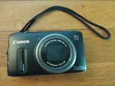 Canon PowerShot SX260 HS 12.1MP Digital Camera Black zoom 20x 4.5 - 90 UNTESTED