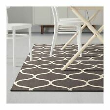 IKEA Stockholm Rug, hand made, flatwoven, net pattern - Brown, 240x170cm