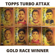 TOPPS TURBO ATTAX F1 FORMULA 1 GOLD RACE WINNER FOIL CARDS 2020 ALL MINT
