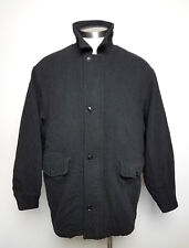 GANT Men's Wool Blend Full Zip Thick Jacket Size L Large Black Fully Lined