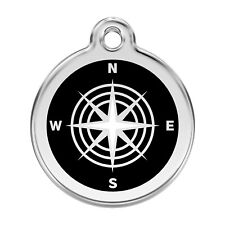 Red Dingo Dog Cat Pet ID Tag Charm FREE Personalized Engraving COMPASS