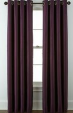 """JCP HOME PLAZA GROMMET-TOP LINED BLACKOUT PANEL CURTAIN 50""""X95"""" MIDNIGHT PURPLE"""