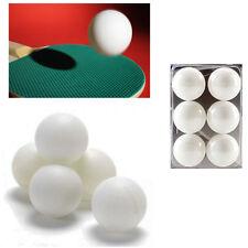 6 Balles De Golf Ping Pong Blanches 4 Cm Plastique Sport Divertimento Jeu Table