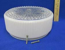 """White & Clear Glass Shade Ceiling Light Cover Lamp Ribbed Diamond Hobnail 7"""""""