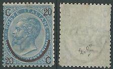 1865 REGNO SOPRASTAMPATO 20 SU 15 CENT III TIPO SENZA GOMMA - Y172-2