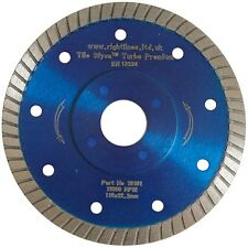 Porcelain Tile Cutting Diamond Blade. Thin Turbo. 115mm. 4.5in.  Fast & Neat.
