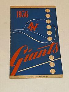 1956 New York giants baseball Score Card. scored. . great condition.