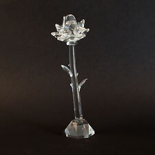 STANDING CLEAR ROSE ORNAMENT GIFT FLOWER NEW BOXED