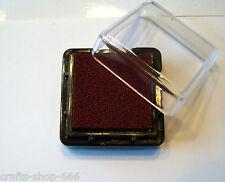STEMPELKISSEN   Stamping   25x25mm  Violett - Braun   # 6 Kartengestaltung