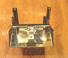 1955 56 57 CHEVY & GMC TRUCK  BATTERY TRAY BOX POLISHED STAINLESS STEEL USA MADE