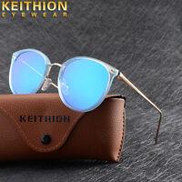 Fashion Womens Brand Designer Polarized Sunglasses Oval Retro Mirrored Shades 01