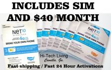 NET10 SIM CARD INCLUDES > $40 full MONTH > USA TRUSTED DEALER Since 1993!