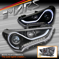 3D Stripe Bar DRL projector LED indicators head lights for Hyundai Veloster