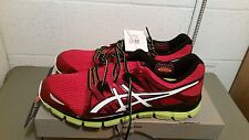 New ASICS Men's Red/White/Lime Gel Athletic Shoes