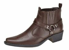 Unbranded Men's Cowboy Synthetic Leather Boots
