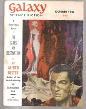 GALAXY SCIENCE FICTION, 2 ISSUES. 1954/56. COVERS BY EMSCH.