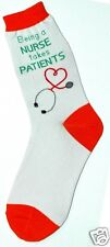 Foot Traffic Being A Nurse Takes Patients Womans Cotton Blend Crew Socks New