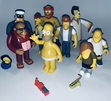 The Simpsons Playmates Lot of 9 Action Figures Homer Rev Captain Willie